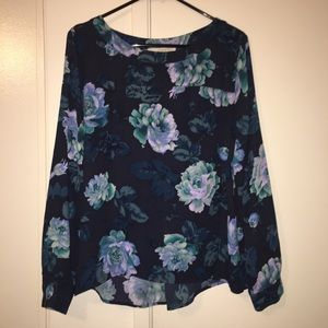 LOFT floral blouse Medium